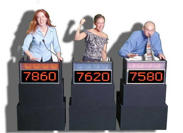 people playing game show